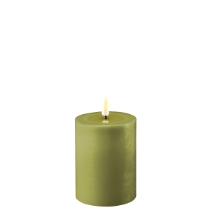 Battery Operated LED Candle 7.5cmx10cm Olive