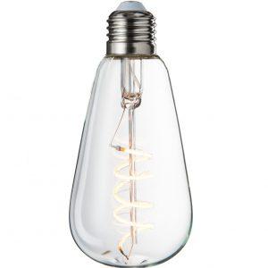 Spiral LED Transparent Rustic Bulb