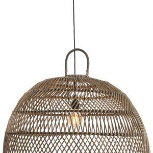 Large Natural Rattan Ball Pendant Lamp