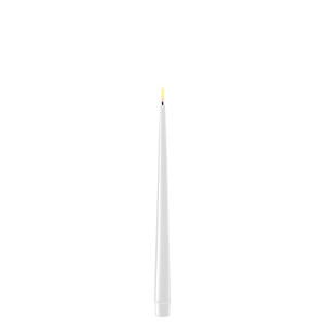 Pack of 2 Battery Operated LED Tapered Dinner Candles White
