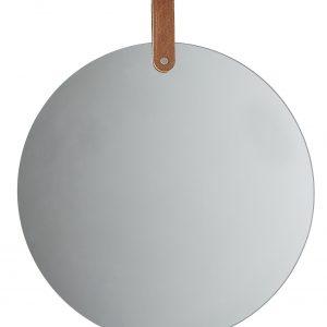 Round Hanging Mirror with Strap