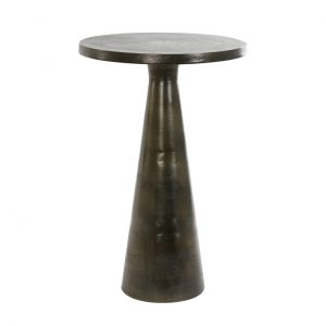 Antique Bronze Pedestal Side Table
