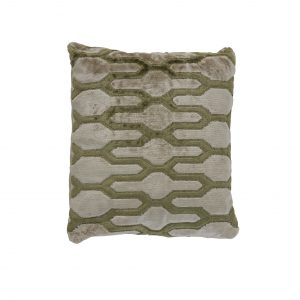 Olive & Sand Geometric Cushion