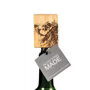 Spaniel Oak Bottle Stopper