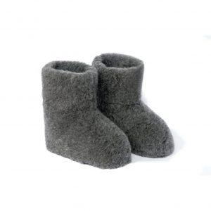Graphite Wool Booties