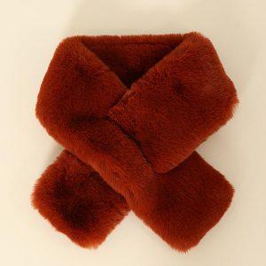 Burnt Orange Tuck Through Faux Fur