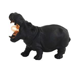 Matt Black Hippo Table Lamp