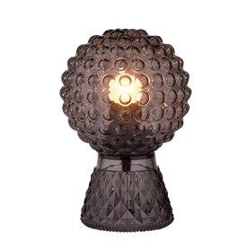 Smoked Glass Bobble Table Lamp