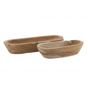 Natural Wooden Oblong Dish