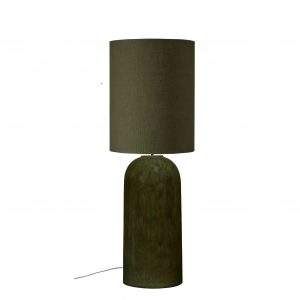 Army Green Stoneware Lamp with Shade