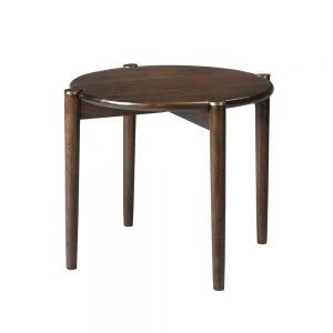 Small Smoked Mango Wood Round Coffee Table