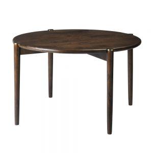 Large Smoked Mango Wood Round Coffee Table
