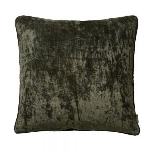 Olive Lush Square Velvet Cushion