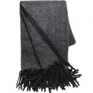 Grey & Black Herringbone Throw 130x170cm