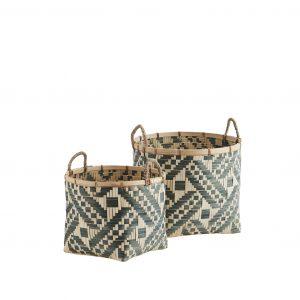 Green & Natural Bamboo Storage Basket
