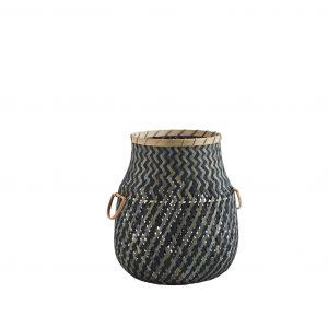 Ivy & Black Shaped Bamboo Storage Basket