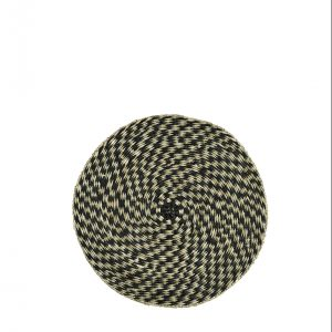 Natural & Black Seagrass Placemat