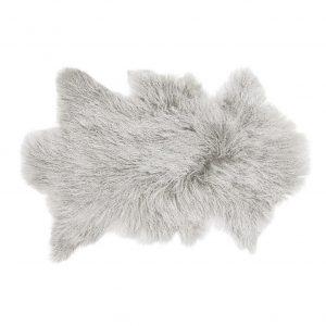 Light Grey Tibetan Sheepskin Rug