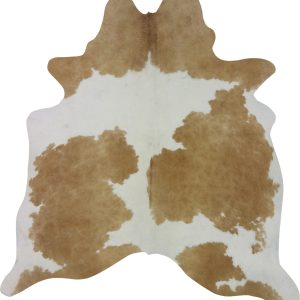 Cow Hide Rug Light Brown Small