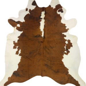 Cow Hide Brown & White Large