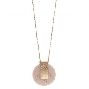 Envy Nude Circle Statement Necklace