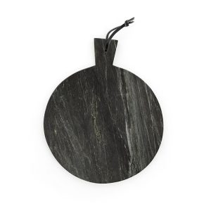 Black Marble Round Serving Board
