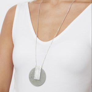 Envy Silver Circle Statement Necklace