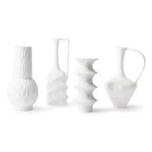 Set of 4 Porcelain Vases