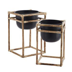 Bamboo Flower Pot Stand