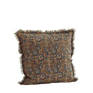 Cinnamon floral print cushion