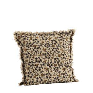 Burnt Henna Floral Print Cushion