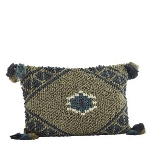 Diamond Cushion with Tassels