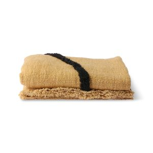 Ochre and Black Woven Throw