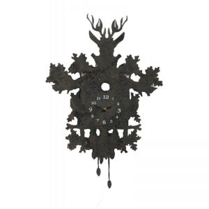 Rusty Look Stag Clock