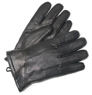 Men's Black Leather Gloves X Large