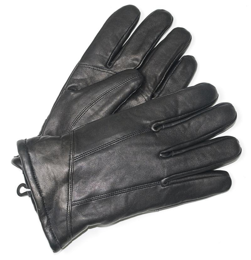 Men's Black Leather Gloves Regular