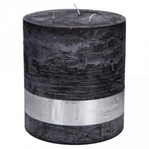 Rustic Charcoal Black 3 Wick Candle
