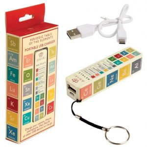 Periodic Table USB Charger Keyring