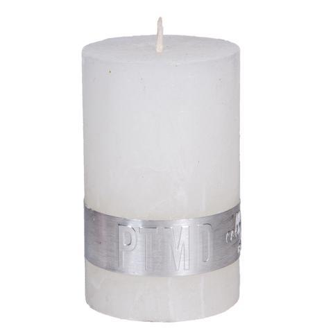Rustic Hot White Pillar Candle 8x5cm