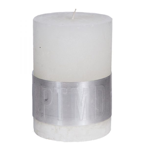 PTMD Rustic Hot White Pillar Candle