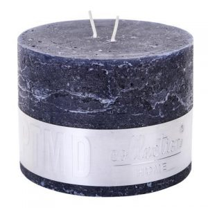 Rustic Night Blue Block Candle 9x12cm