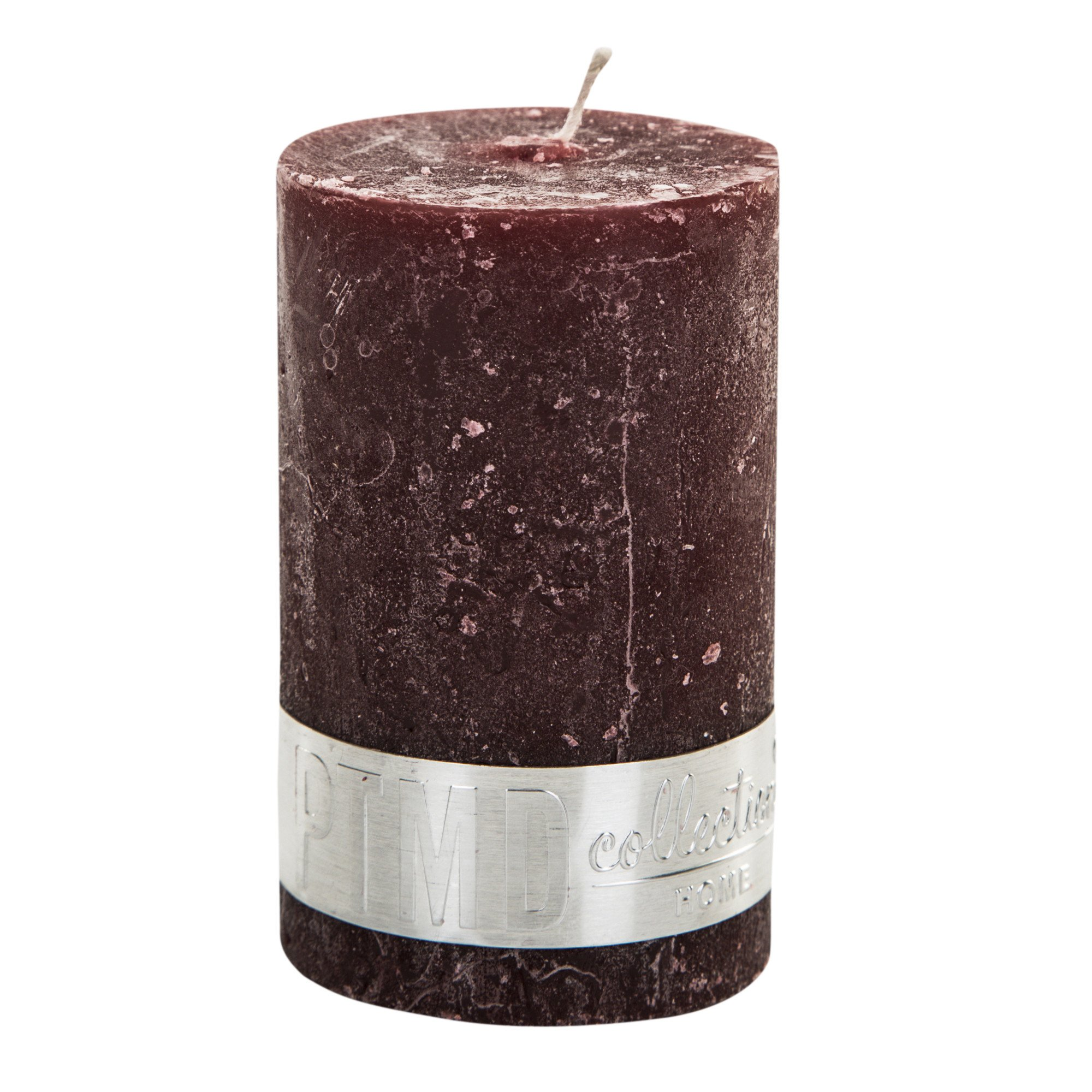 Rustic Red Pillar Candle 8x5cm