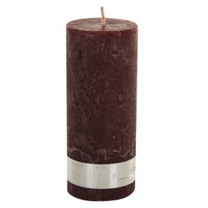 Rustic Red Pillar Candle 12x5cm