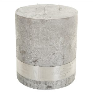 Metallic Silver 3 Wick Candle