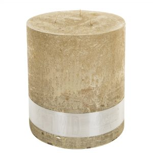 PTMD Rustic Gold 3 Wick Candle