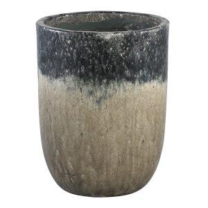 Petrol Bombay Ceramic Round Pot