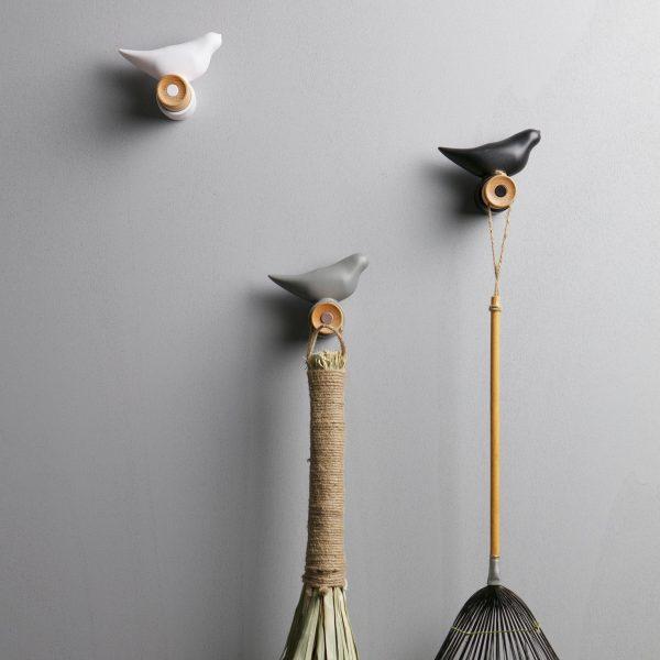 Wood Bird Hooks