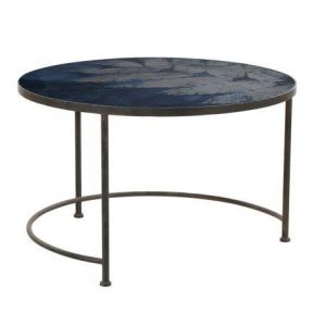 Prussian Blue Leaf Coffee Table