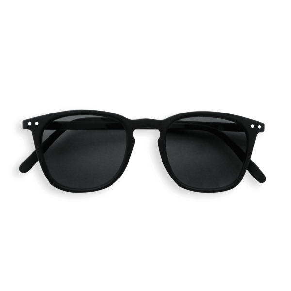 Izipizi #E Sunglasses Black Soft with Grey Lenses