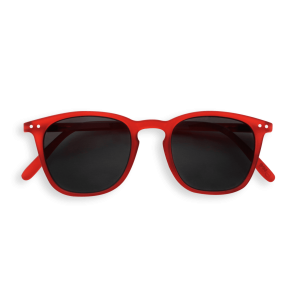 Izipizi #E Sunglasses Red Crystal with Soft Grey Lenses